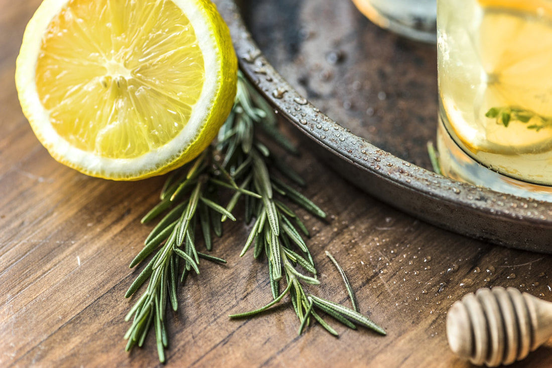 lemon for kombucha flavoring with rosemary