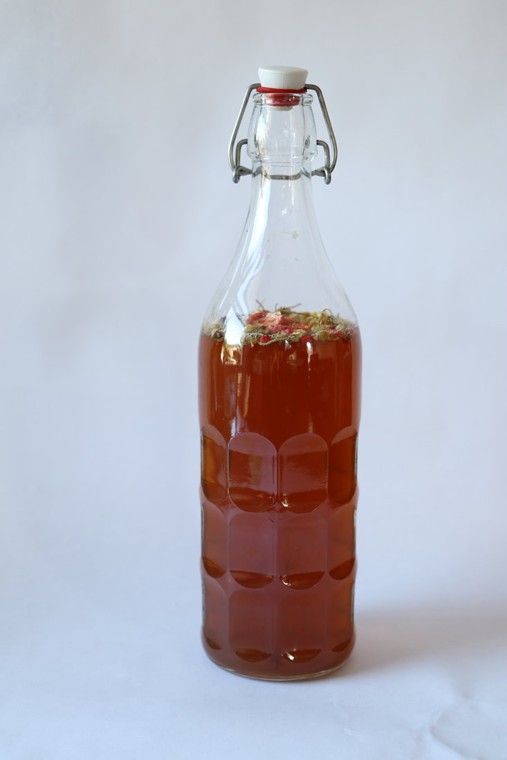 kombucha bottle of kombucha to the people strawberry flavoring